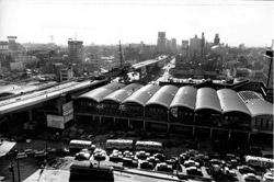 撮影1964年/東京オリンピックに向け「首都高」「東横線渋谷駅」の工事が同時に進む